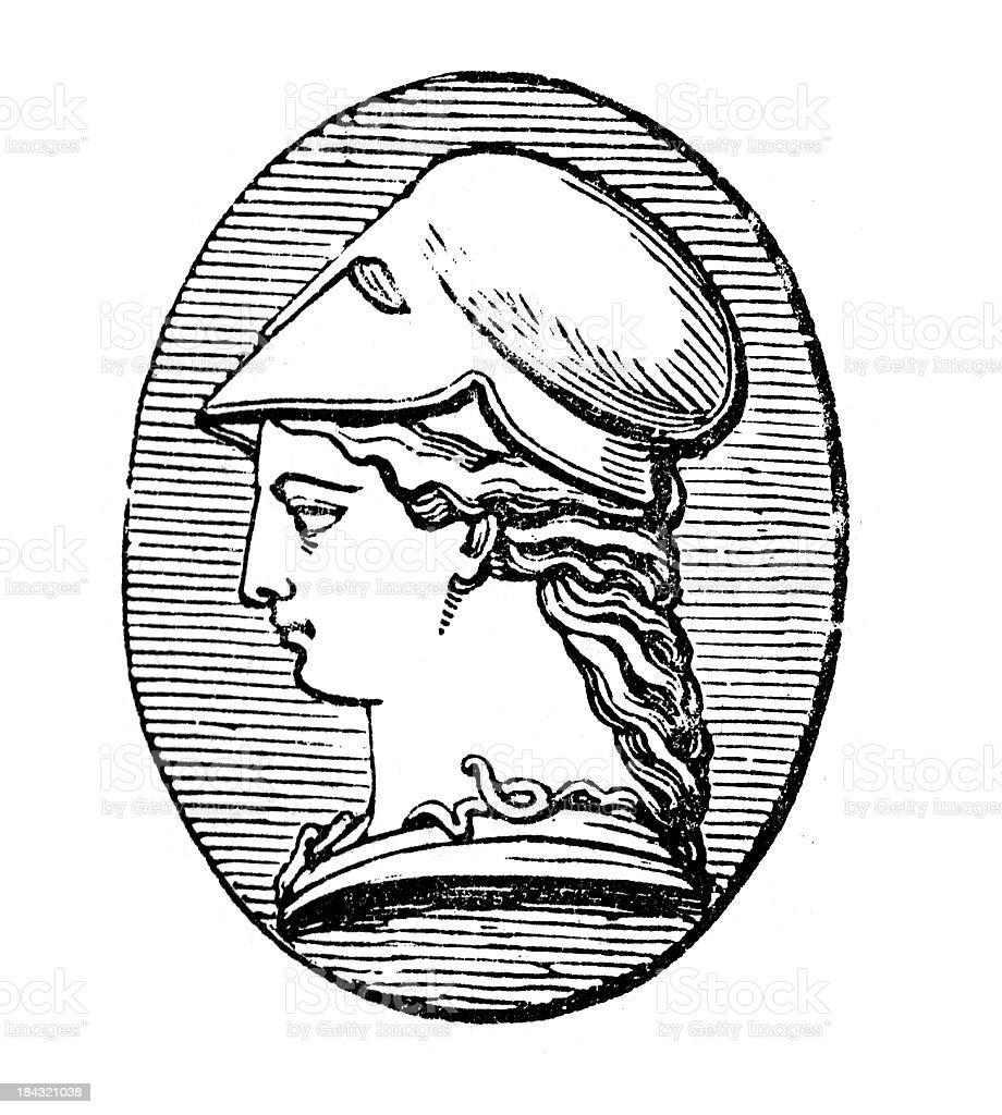 Greek Goddess Athena royalty-free stock vector art