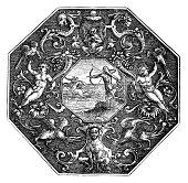istock Greek Mythology Crest 1256388105