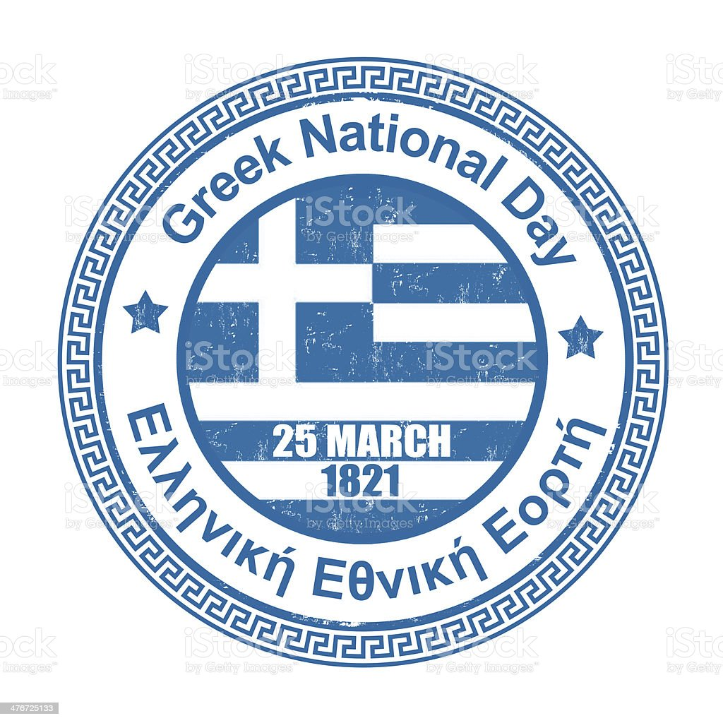 Greek National Day stamp royalty-free greek national day stamp stock vector art & more images of anniversary