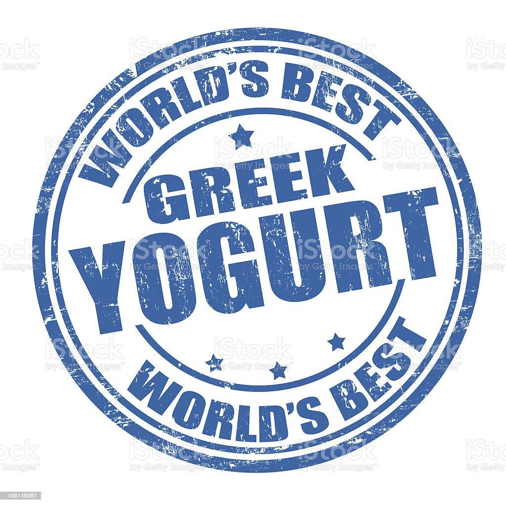 Greek yogurt stamp royalty-free stock vector art