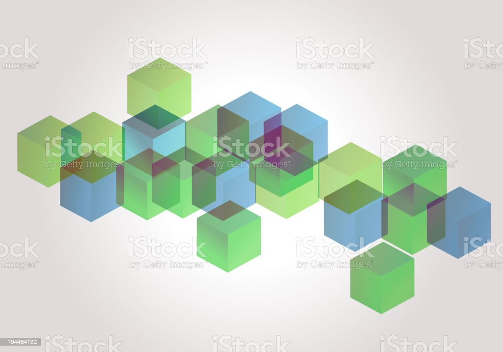 green and blue Cube Background royalty-free stock vector art