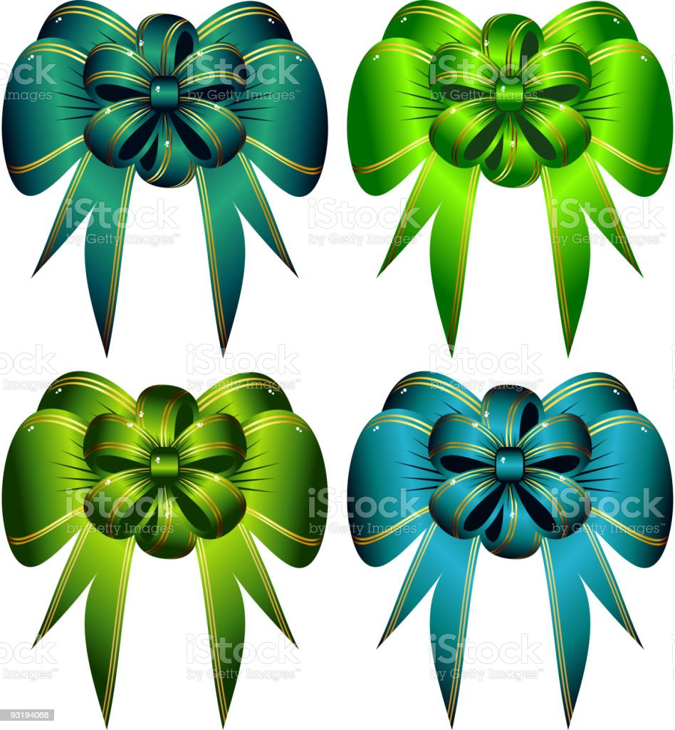Green bows royalty-free stock vector art