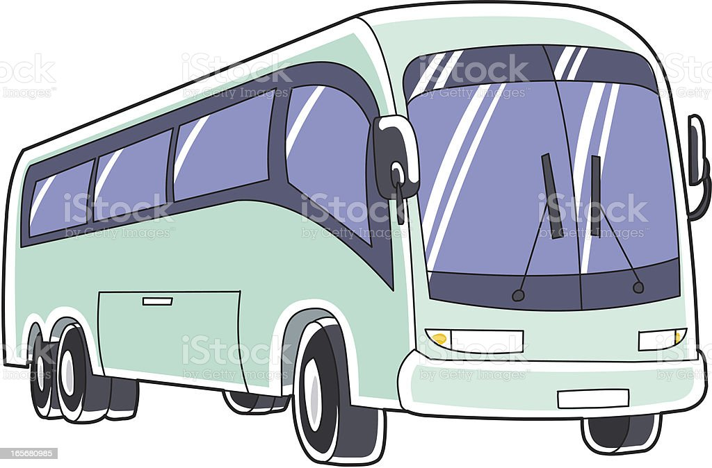 Green bus vector art illustration