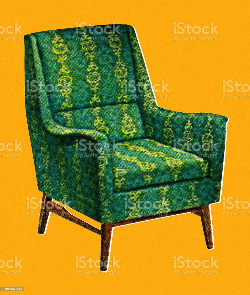 Green Chair vector art illustration