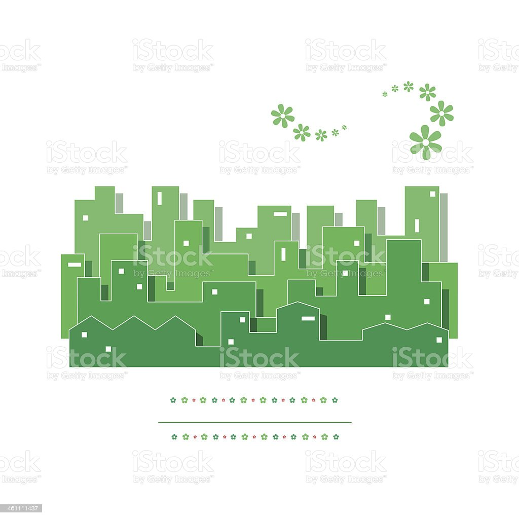 green cityscape illustration vector art illustration