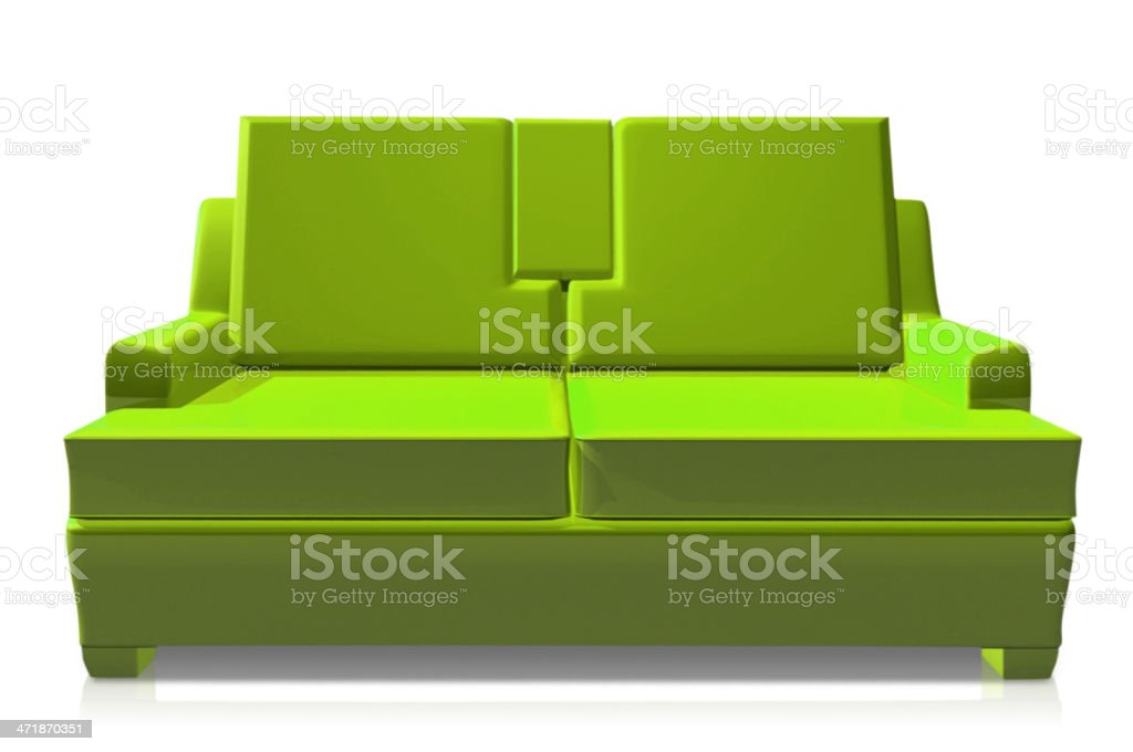 Green Colour Sofa On White Background Stock Vector Art U0026 More Images Of  Horizontal 471870351 | IStock