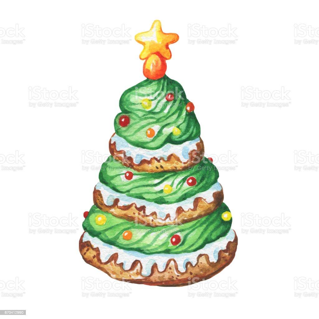 Green Cupcake A Christmas Tree Shape Sugar Star Christmas Decoration ...