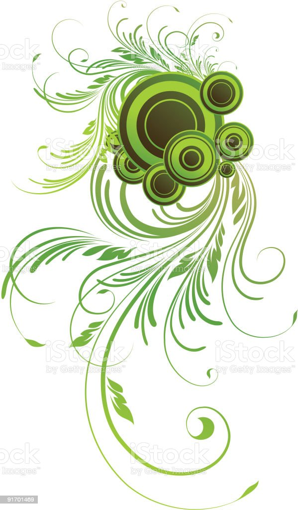 Green design element royalty-free stock vector art