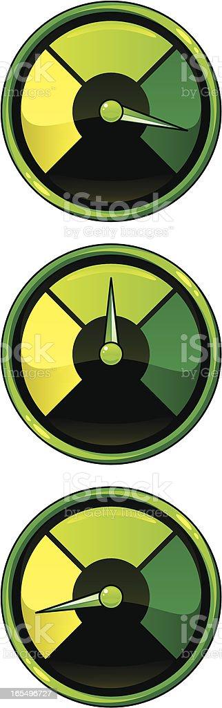 green dials royalty-free stock vector art
