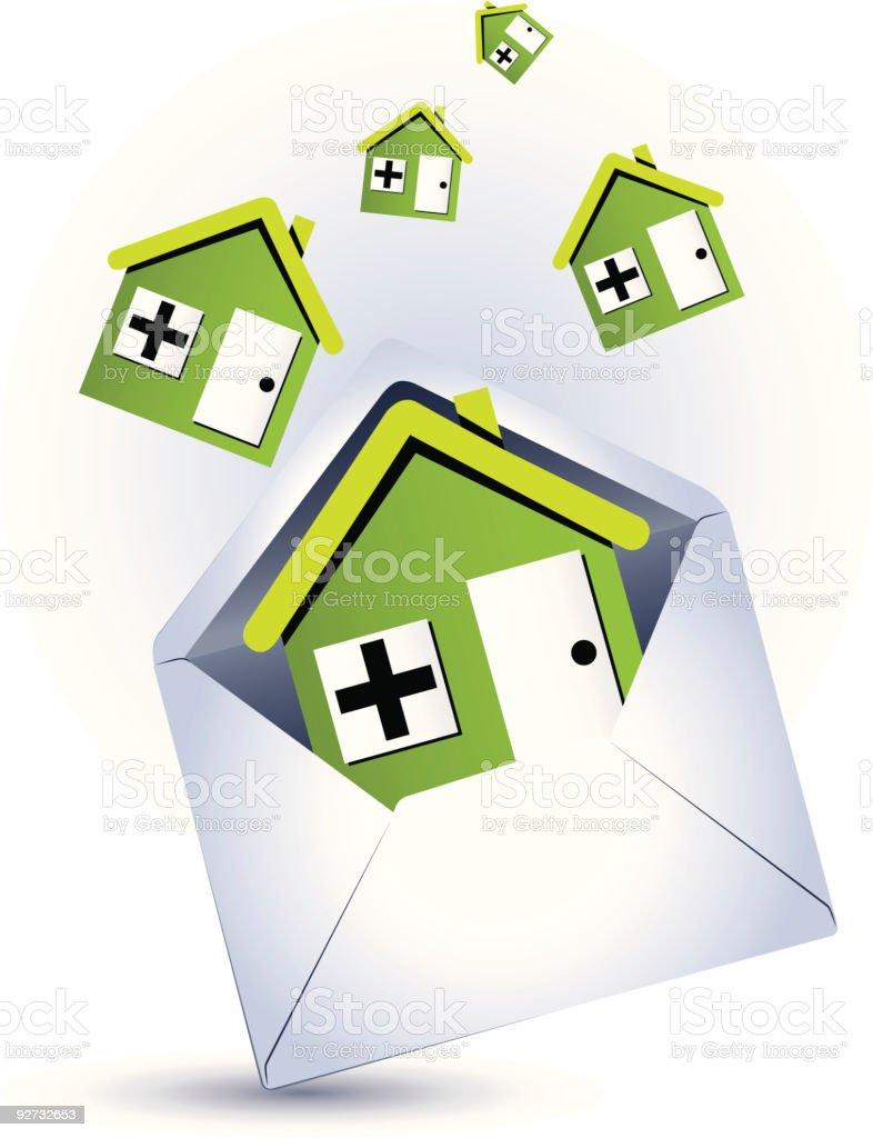 Green eco-friendly houses royalty-free stock vector art