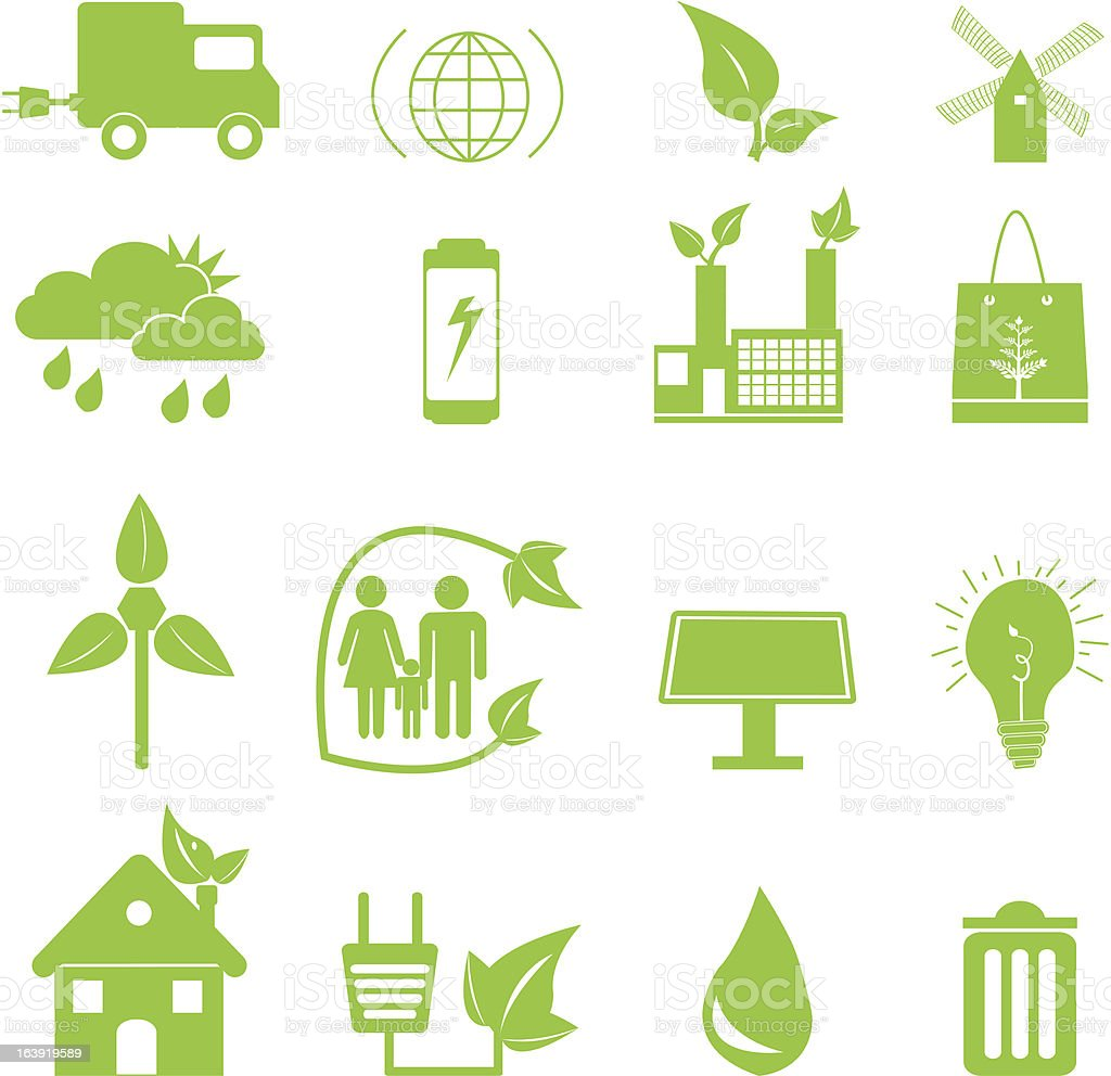 Green Ecology Icons royalty-free green ecology icons stock vector art & more images of battery