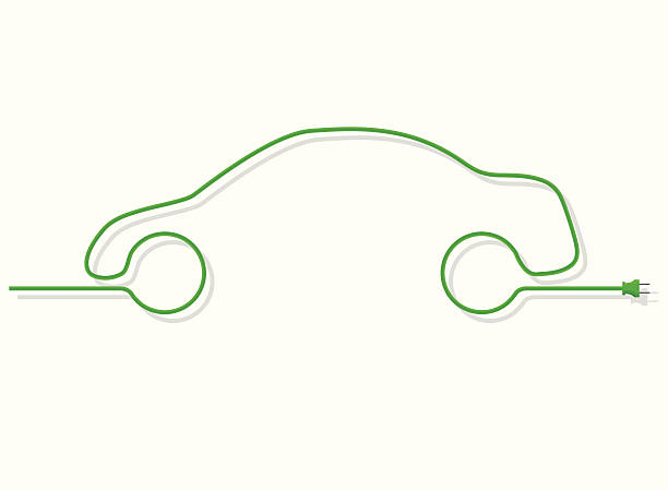 Green Energy Design  electric vehicle stock illustrations
