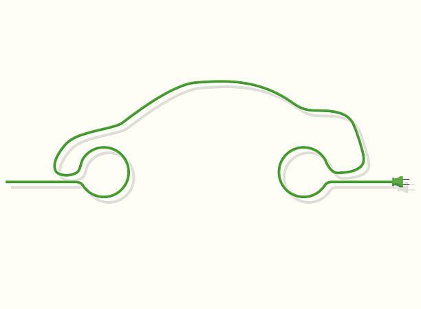 Green Energy Design  electric car stock illustrations