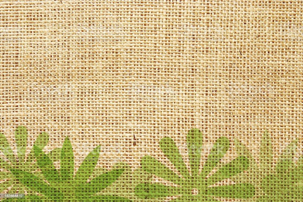 Green floral background vector art illustration