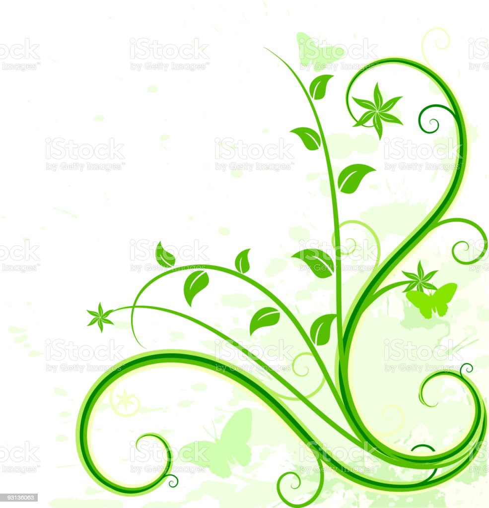 Green floral background. royalty-free green floral background stock vector art & more images of abstract