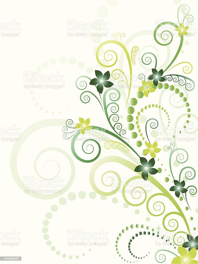 Green floral vector royalty-free stock vector art