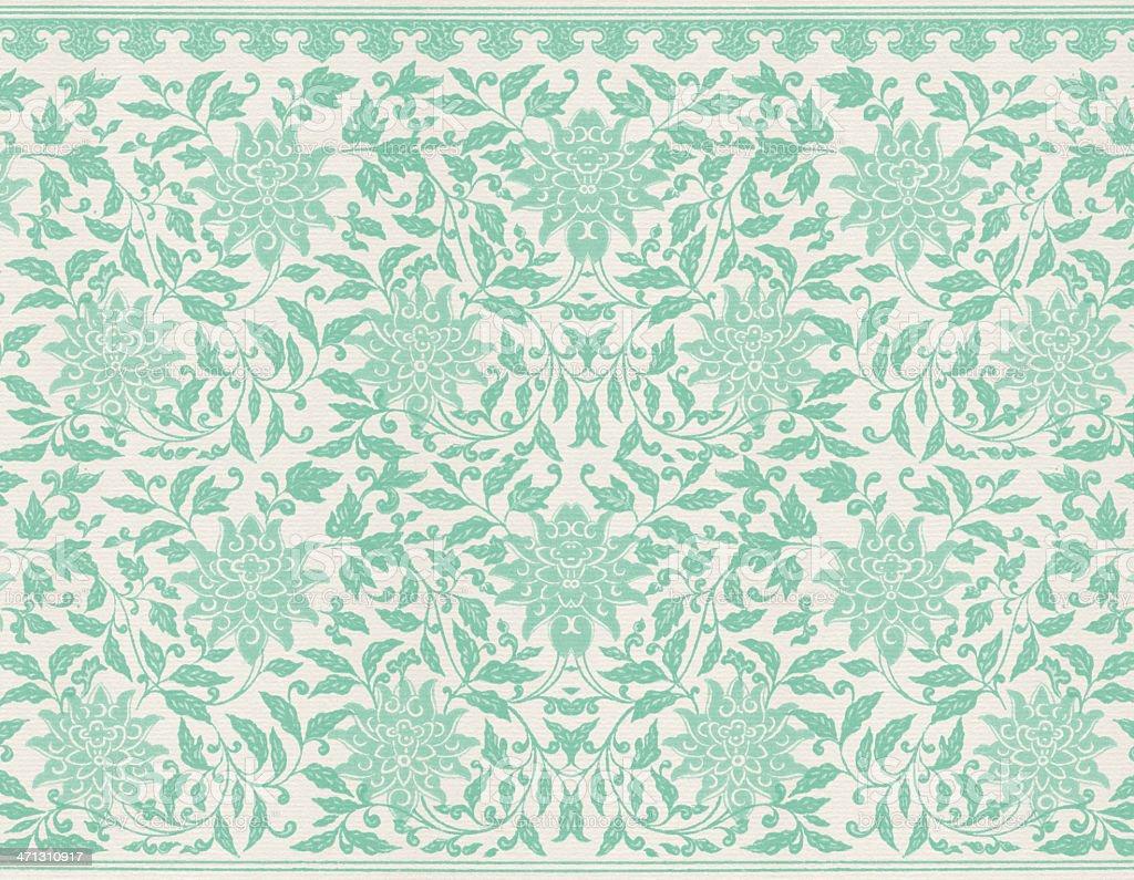 Grun Floral Tapete Stock Vektor Art Und Mehr Bilder Von Abstrakt