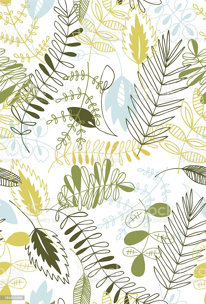 Green Goddess Seamless Pattern royalty-free stock vector art