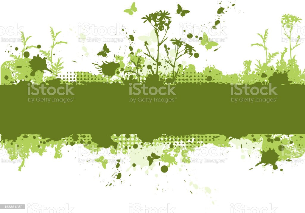 green grunge background royalty-free stock vector art