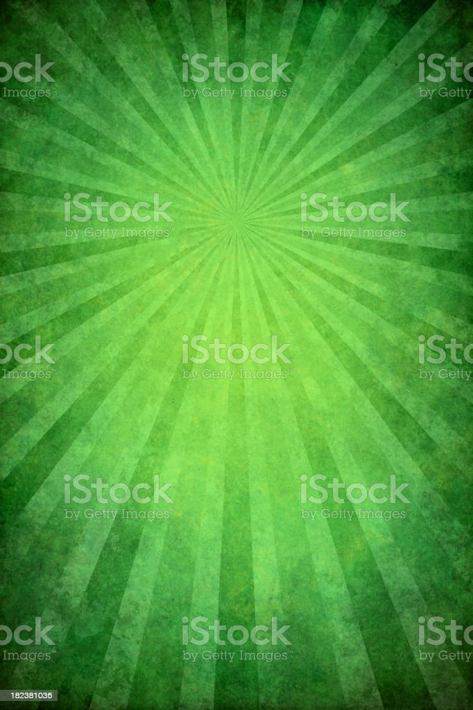 green grunge background with sunburst royalty-free stock vector art