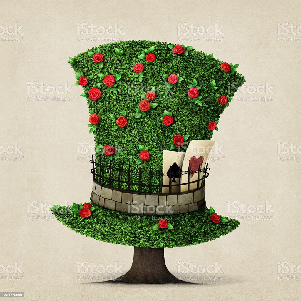 Cappello verde - illustrazione arte vettoriale