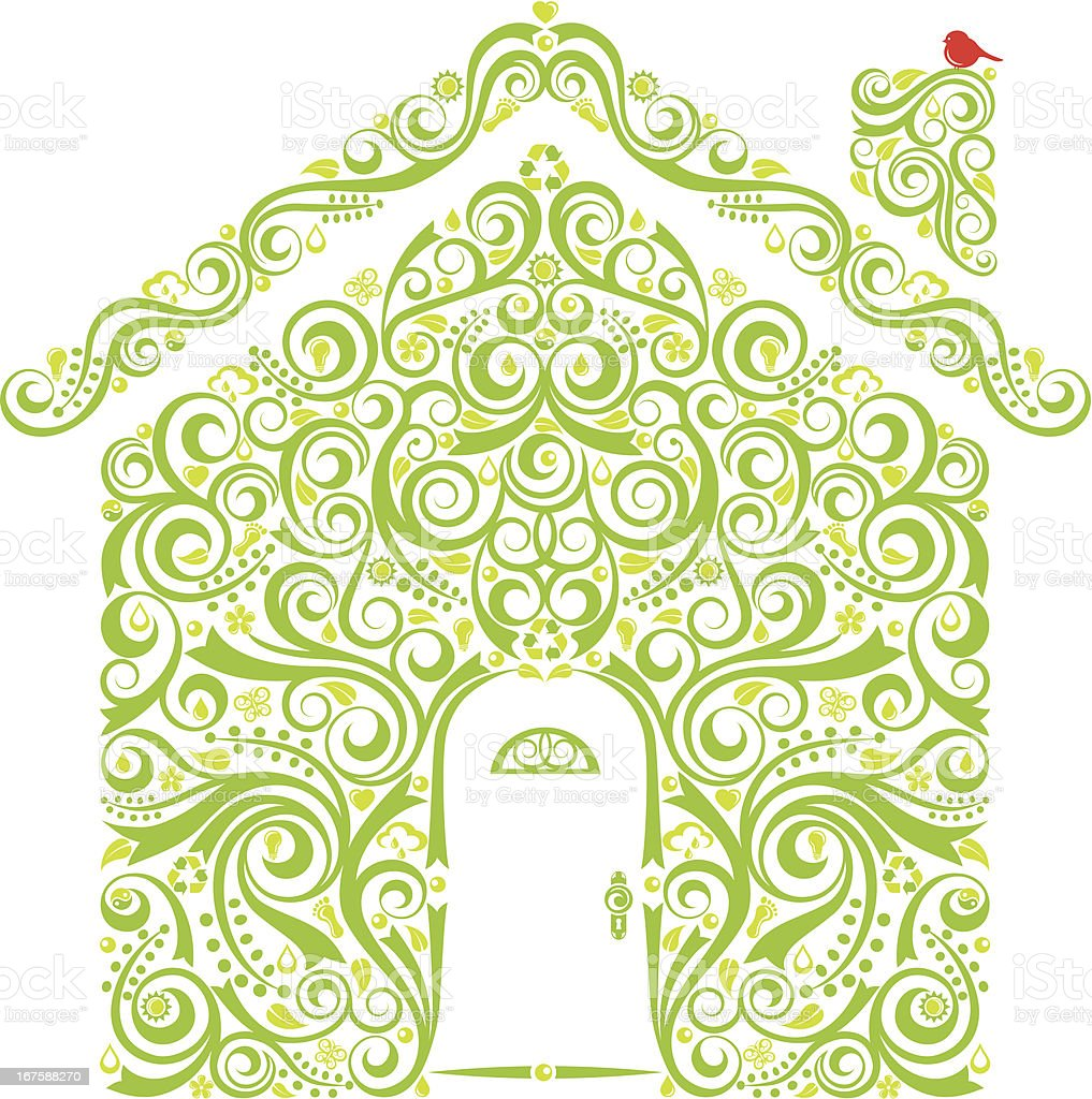Green Home royalty-free green home stock vector art & more images of alternative energy