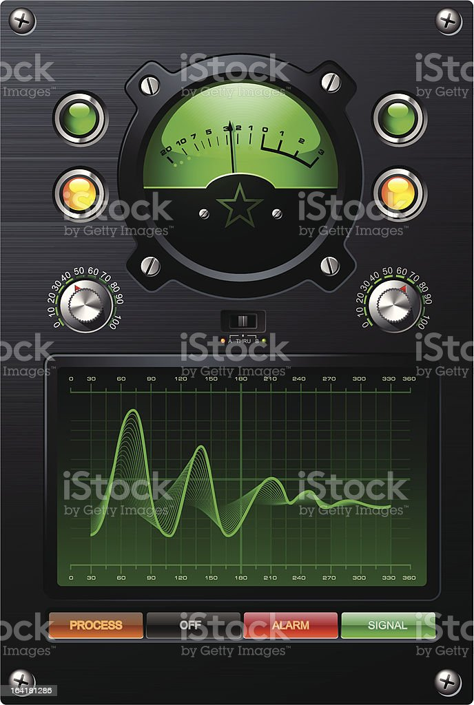 Green Lab Meter royalty-free stock vector art