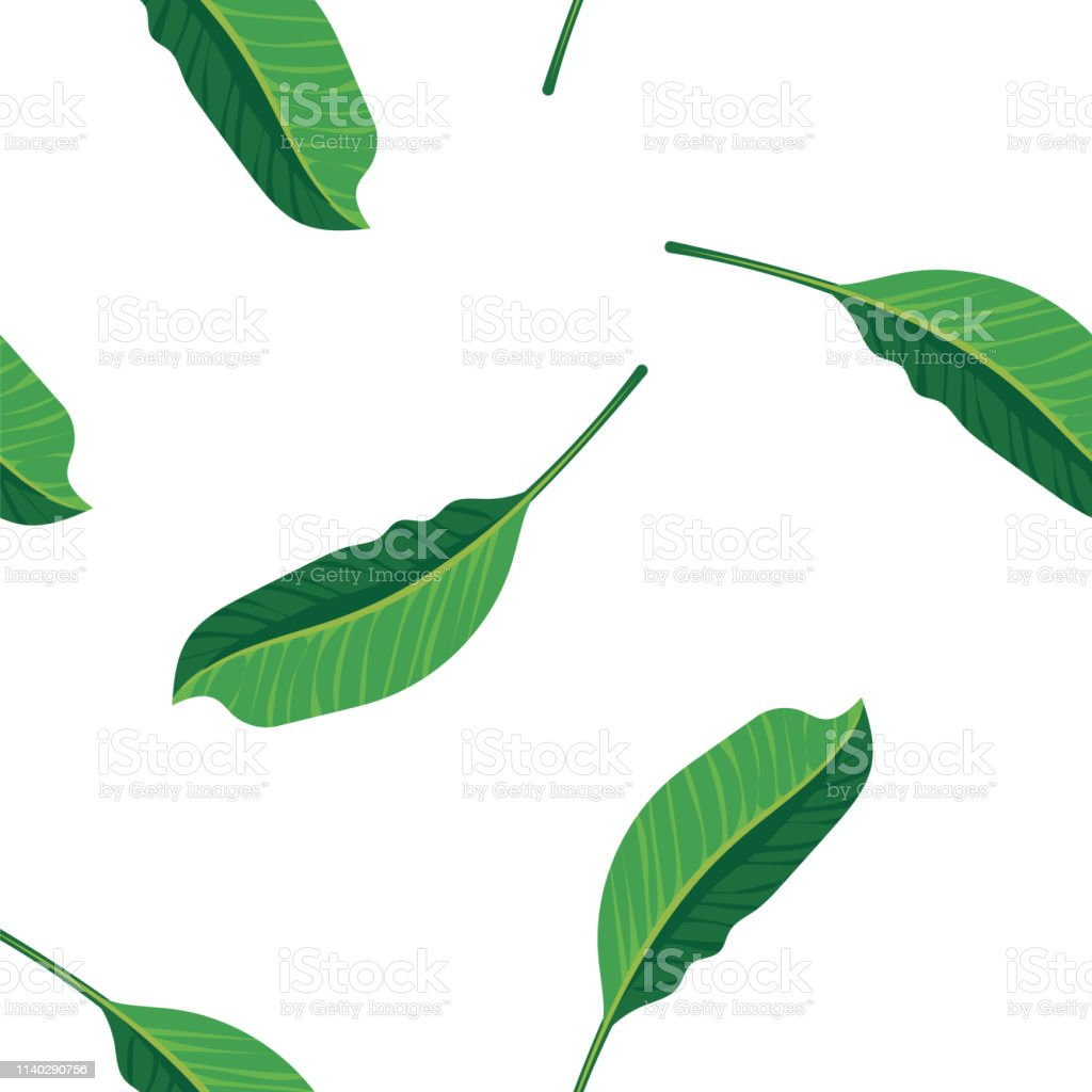 Green leaves pattern background. Pattern green foliage seamless...