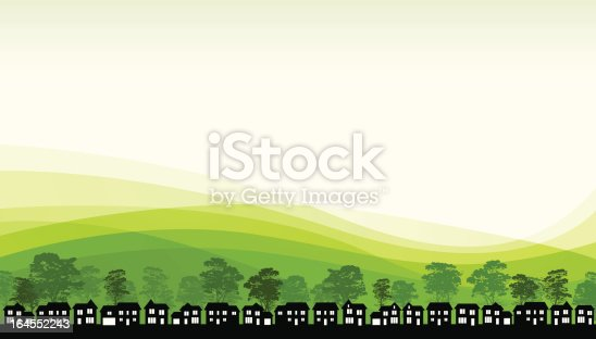 Green living background concept.