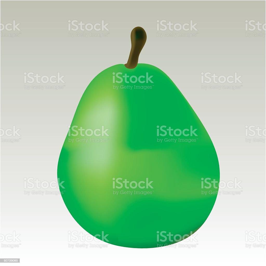 Green pear vector art illustration
