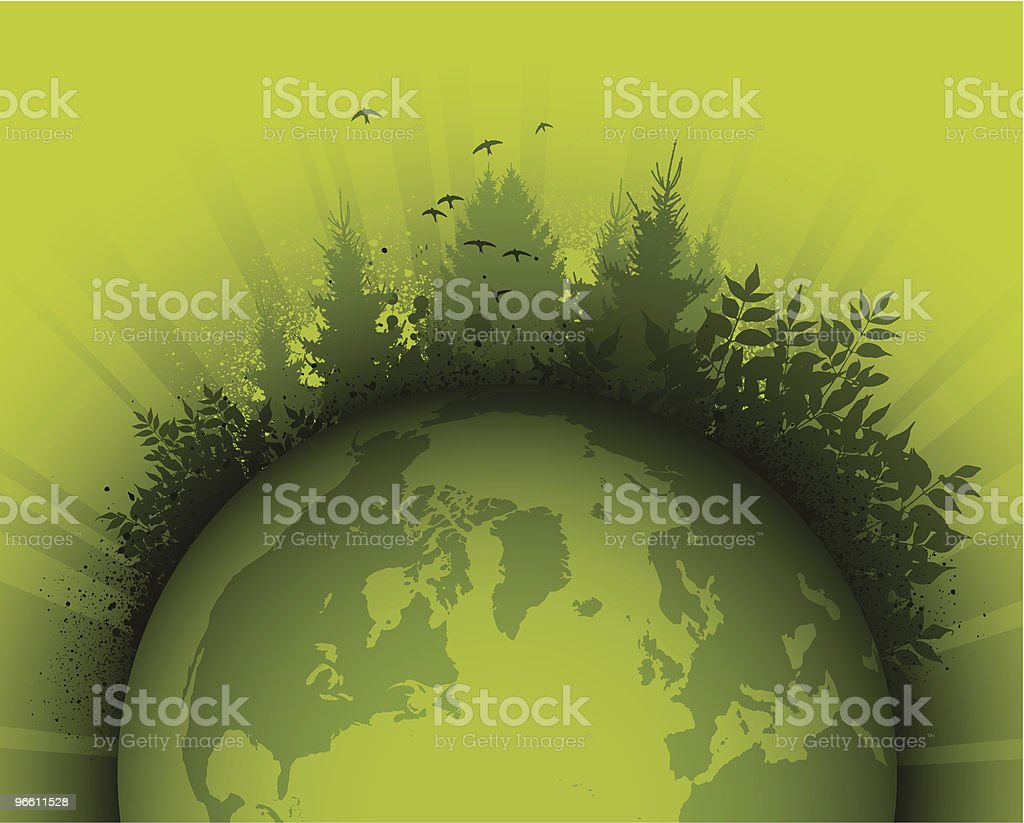 Green planet - Royalty-free Animal Themes stock vector