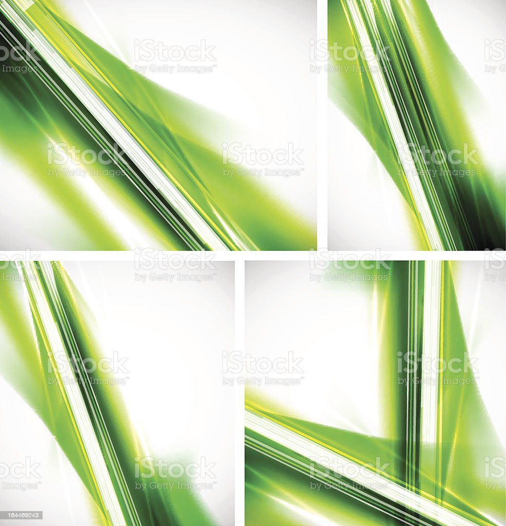 Green shiny backgrounds vector art illustration