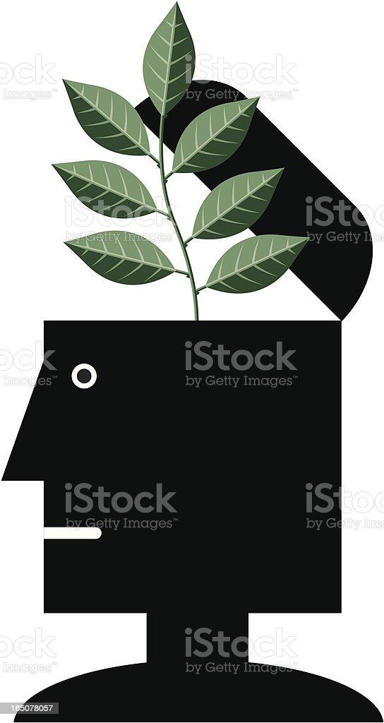 Green shoots vector art illustration