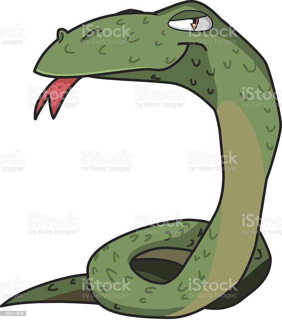 Green snake vector illustration. vector art illustration