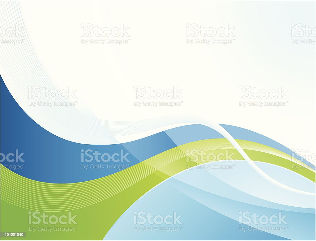 Green stream vector art illustration