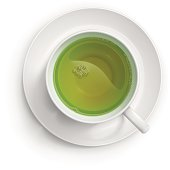Vector illustration of a cup with green tea.
