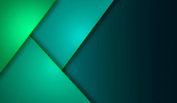 stockillustraties, clipart, cartoons en iconen met groene turquoise en blauwe achtergrond overlappen laag op donkere ruimte voor achtergrondontwerp - groene acthergrond