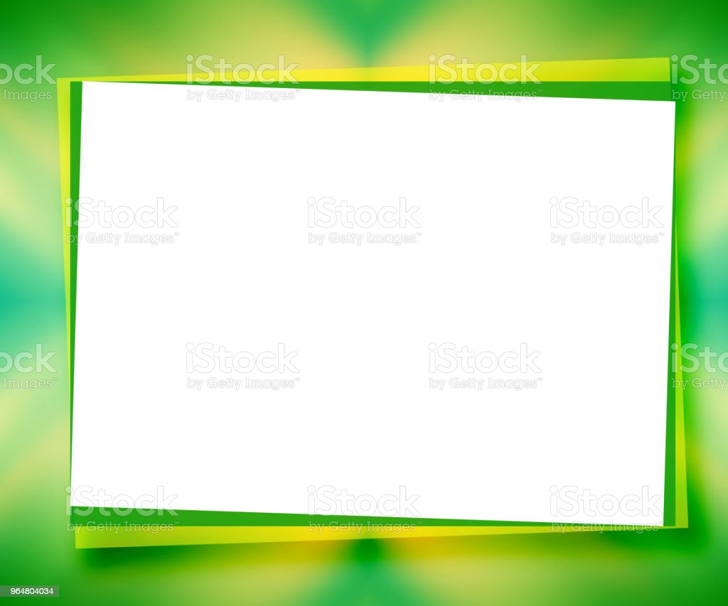 Green universal background with large text place as white piece of paper. Abstract mockup frame. Template bright colored design for card, postcard, scrapbook, photo album, poster, flyer, booklet, presentation royalty-free green universal background with large text place as white piece of paper abstract mockup frame template bright colored design for card postcard scrapbook photo album poster flyer booklet presentation stock vector art & more images of abstract