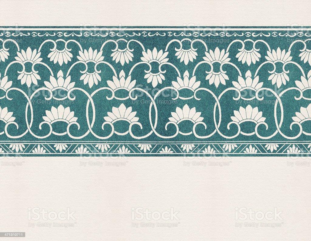 Green Vintage Wallpaper vector art illustration