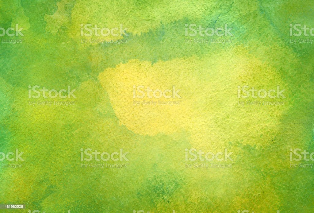 Green watercolor background vector art illustration