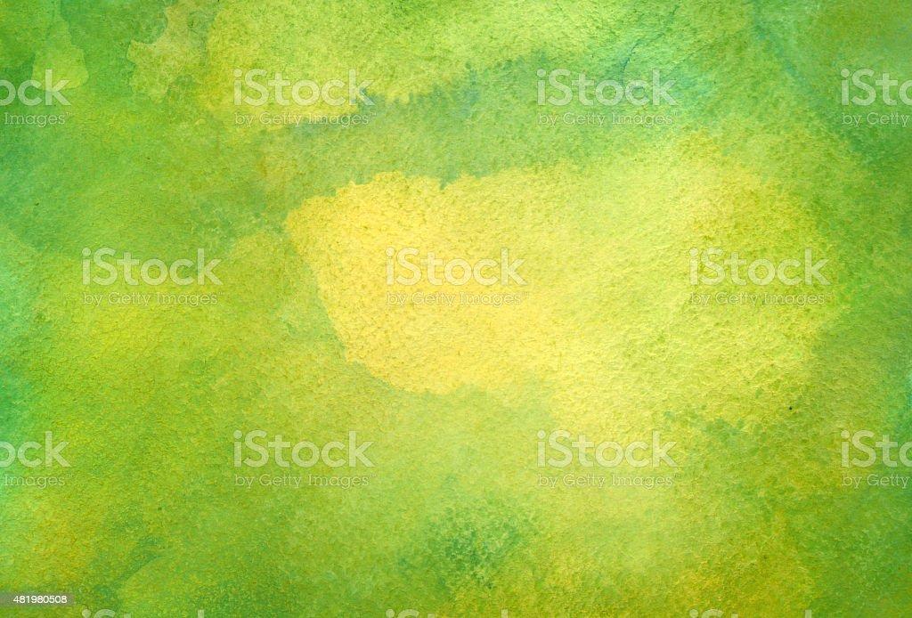緑の水彩バックグラウンド ベクターアートイラスト