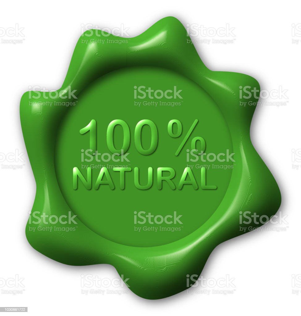 Green Wax seal text natural vector art illustration