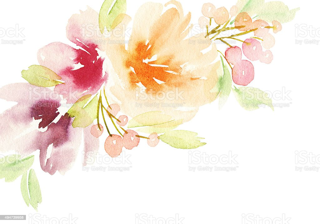 Top Greeting Card With Flowers Pastel Colors Stock Vector Art & More  GK02