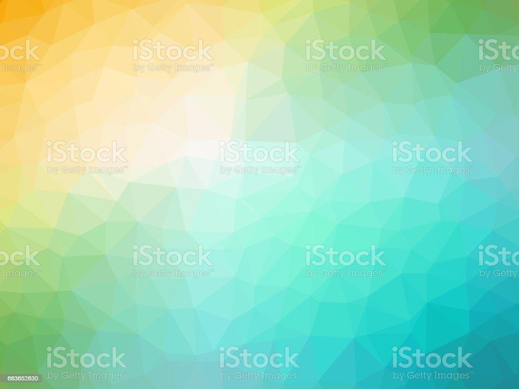 Gren orange polygonal background vector art illustration