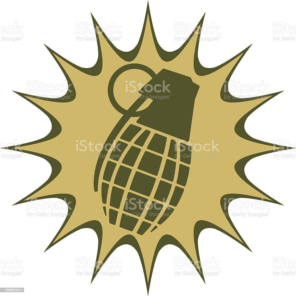 grenade burst royalty-free stock vector art