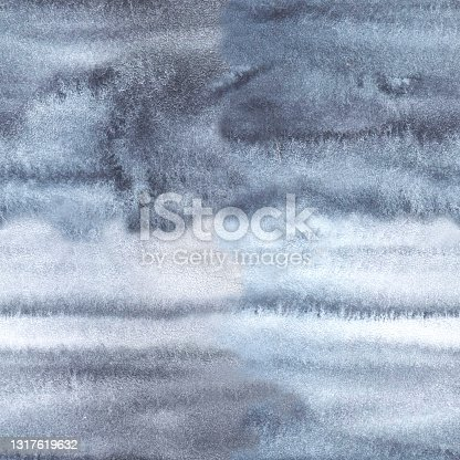 istock Grey white seamless watercolor pattern background and tie-dye texture 1317619632
