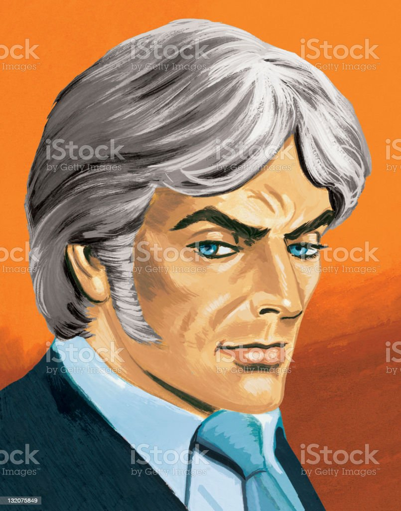 Grey-Haired Man royalty-free greyhaired man stock vector art & more images of adult