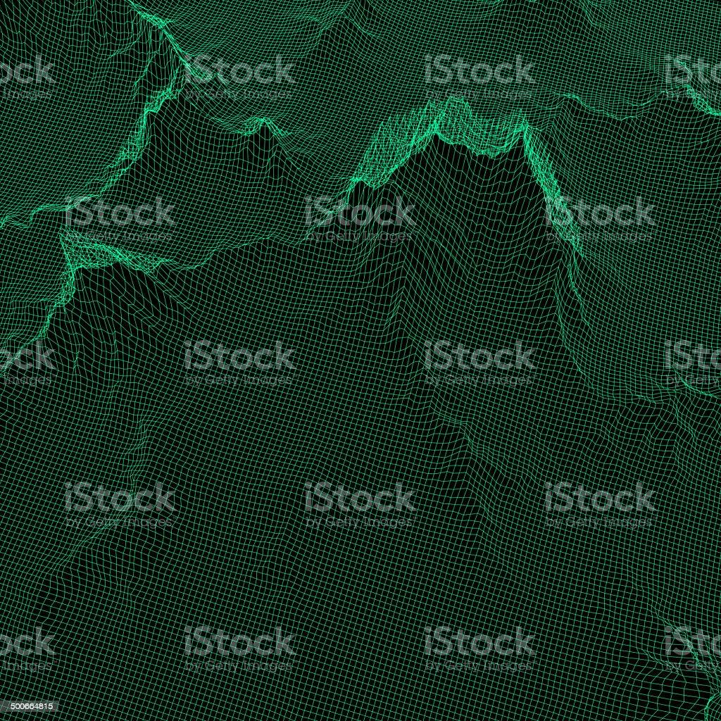 Grid relief vector art illustration