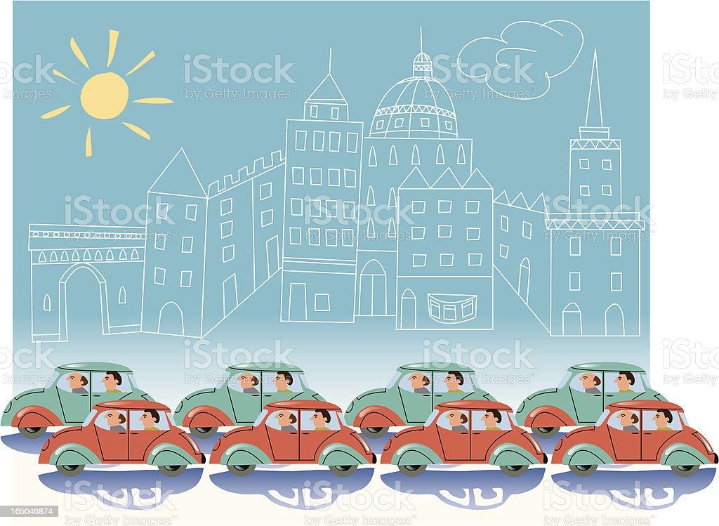 Gridlock royalty-free stock vector art