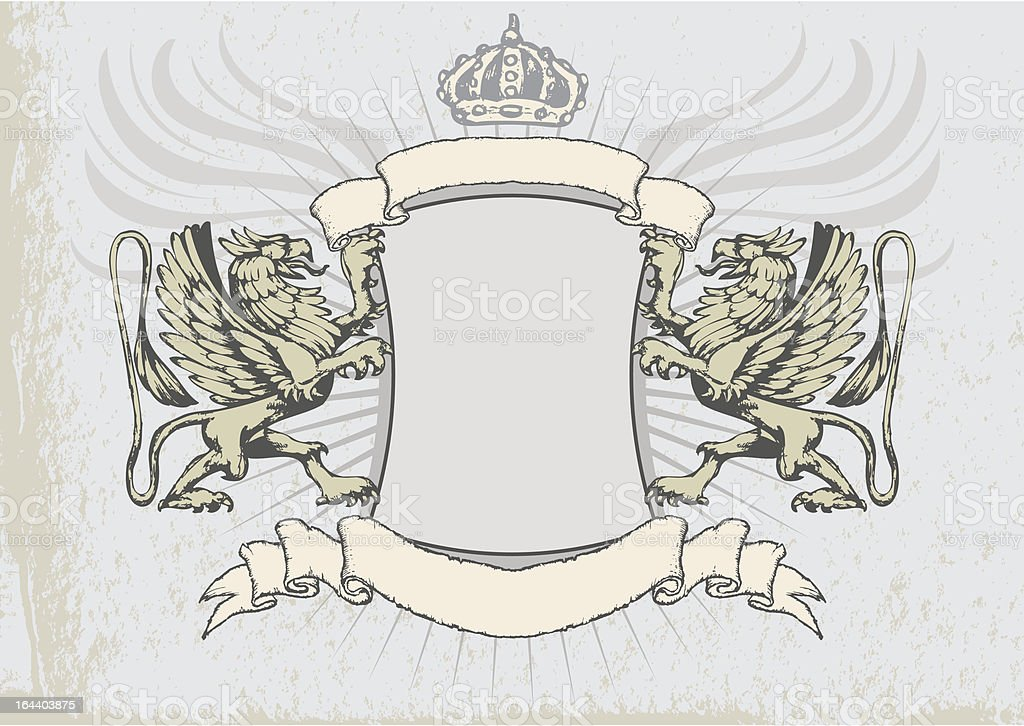 Griffin heraldry shield royalty-free griffin heraldry shield stock vector art & more images of animal